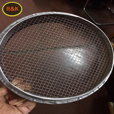 Single layer stainless steel test sieve